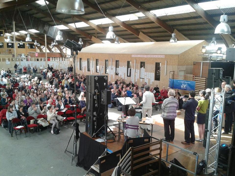 Photo de l'assemblée générale de la Nef (2014)
