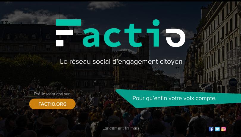 banner Factio, le réseau social citoyen