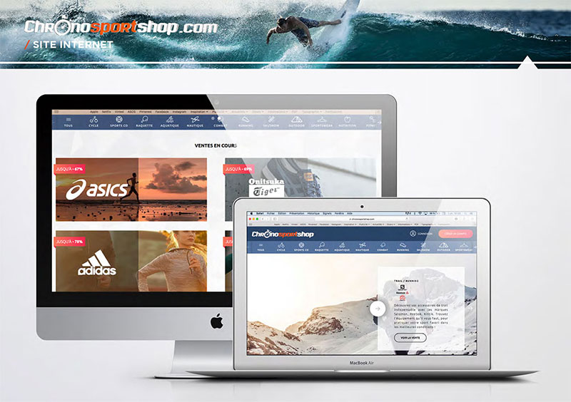ChronoSportShop display