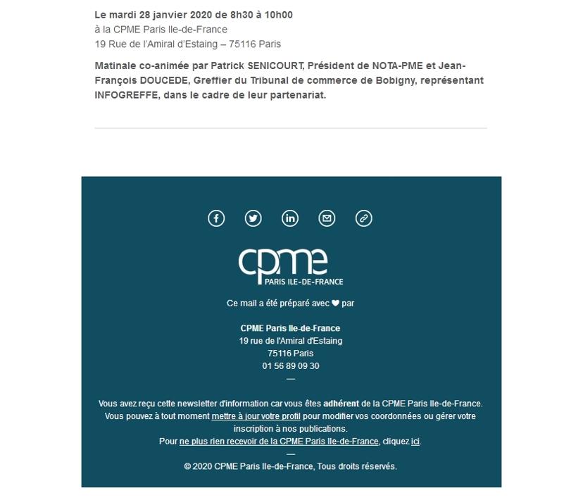 Matinale CPME NOTA-PME INFOGREFFE 3