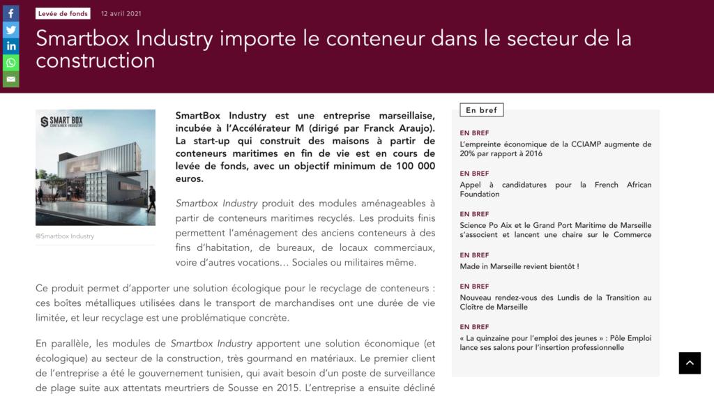 Article sur SmartBox Industry