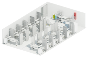 SmartBox Industry salle de soins intensif