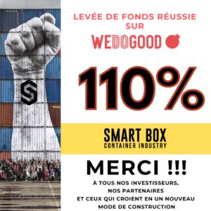 Réussite levée de fonds SmartBox Industry sur We Do Good